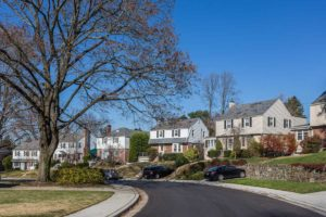 beautifully paved neighborhood in Towson